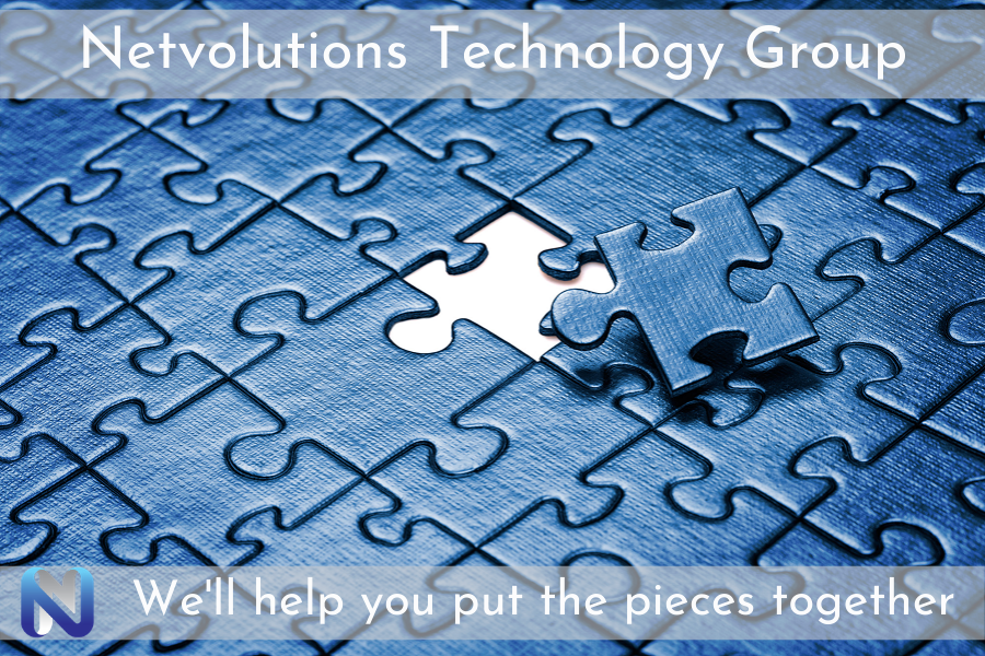 Puzzle with Netvolutions Logo