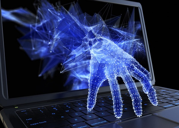 Laptop Hacked by hand